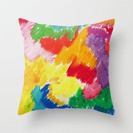 Sunny Abstract 1 Throw Pillow