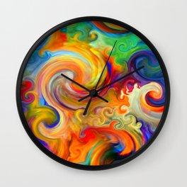 Bermuda Triangle Waves Wall Clock
