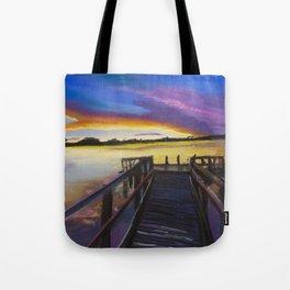 Shelley Bridge Sunset Tote Bag