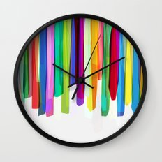 Colorful Stripes 2 Wall Clock