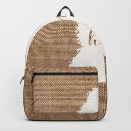 Mississippi is Home - White on Burlap Backpack