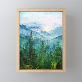 Spring Mountainscape Framed Mini Art Print