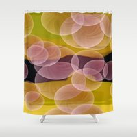bubbles Shower Curtains featuring Bubbles by lillianhibiscus
