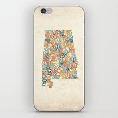 Alabama by County iPhone & iPod Skin