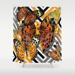 AWESOME  ORANGE-YELLOW BUTTERFLY GRAPHIC MODERN ART Shower Curtain