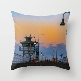 Early Morning San Clemente Pier Throw Pillow