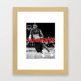 Allen Iverson- The Answer Framed Art Print