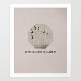Brooklyn Bridge Painters Art Print