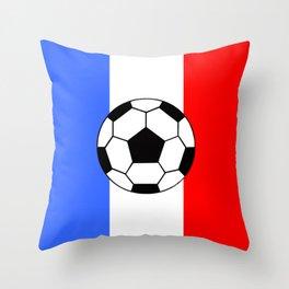 France Foot Throw Pillow