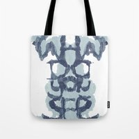 psychology Tote Bags featuring Typography Psychology by David Fleck