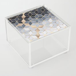 Soft Blue Gradient Cubes Acrylic Box