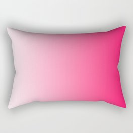 White and Warm Pink Gradient 046 Rectangular Pillow