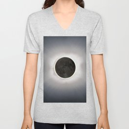 Total Eclipse by  OLena Art Unisex V-Neck