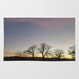 Autumn Sunset Silhouette - Pheasant Branch Conservancy Rug