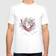 Anatomy Party MEDIUM Mens Fitted Tee White