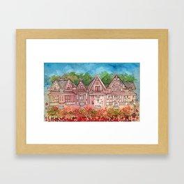 Gingerbread Houses Framed Art Print