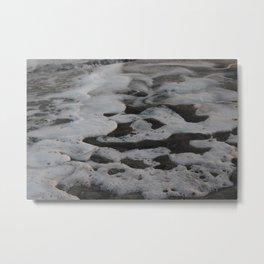 Beach Foam Metal Print