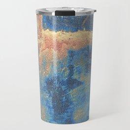Rusted Metal Plates Abstract Travel Mug