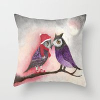 xmas Throw Pillows featuring XMAS by Ana  La Bella Carapinheiro