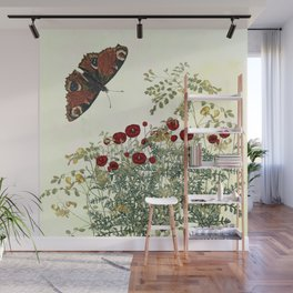 Shaking the wainscot where the field mouse trots Wall Mural