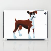 boxer iPad Cases featuring Boxer by Cathy Brear