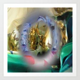 colors mugs gold Art Print