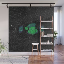 Retro Vintage Happy St Patricks Day Green Distressed Wall Mural