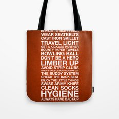 Zombieland — The Rules Tote Bag