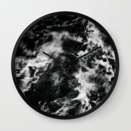Waves III - Black and White Wall Clock