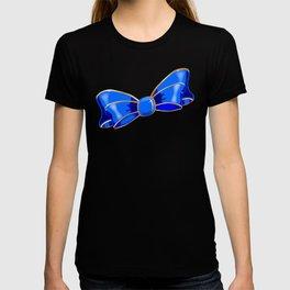 Blue Silk Bow T-shirt