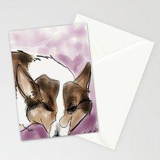 Corgi 4 Stationery Cards