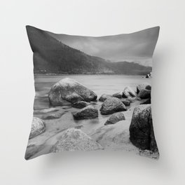 Sand Harbor, Lake Tahoe ... after the storm Throw Pillow