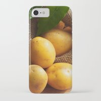 potato iPhone & iPod Cases featuring potato sack by Tanja Riedel