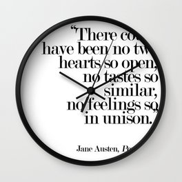 There Could Have Been No Two Hearts Wall Clock