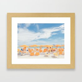 sardinia italy beach scene Framed Art Print