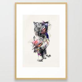 Tiger Eye Framed Art Print