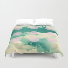 Clouds + Dots Duvet Cover