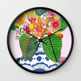 Abstract Flower Bouquet Wall Clock