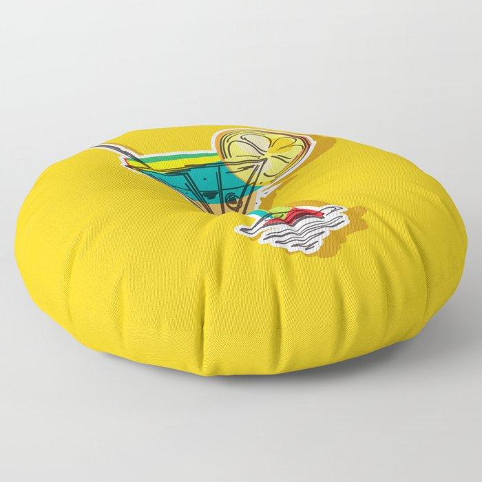 Cocktail Floor Pillow