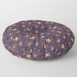 Purple Goldfish Pattern Floor Pillow