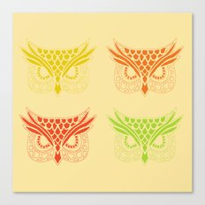 Owl Tribe Canvas Print
