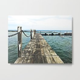 Rockpool Boardwalk Metal Print