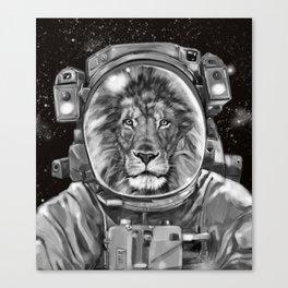 Astronaut Lion King Selfie Canvas Print