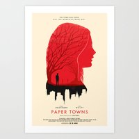 paper towns Art Prints featuring Memories - Paper Towns  by Zahid C