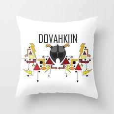 Skyrim: The Dovahkiin - RED (Skyrim) Throw Pillow