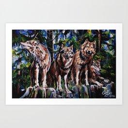 """The Pack "" Art Print"