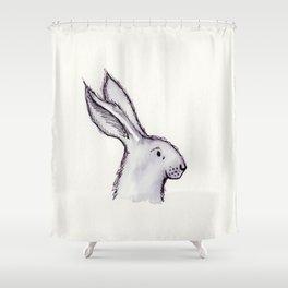 Portrait of Mr Rabbit Shower Curtain
