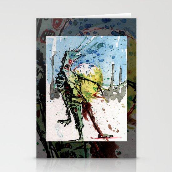 desert zombie Stationery Cards