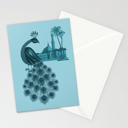 Blue peacock oriental dream Stationery Cards