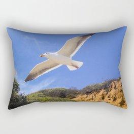 Golden Seagull Rectangular Pillow